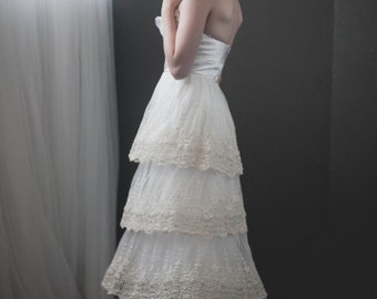 Golden Wheat Wedding Dress Custom Made to Order