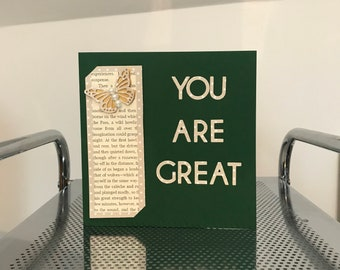 Handmade Bookmark Greetings Card You Are Great