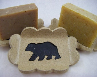 Black Bear  Soap Dish