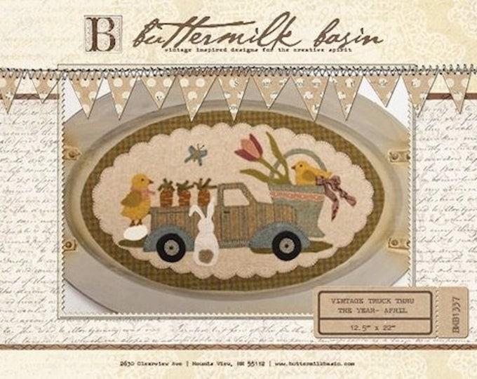 """Pattern: Vintage Truck Thru the Year - April """"Bunny, Chicks, Carrots & More"""" by Buttermilk Basin"""