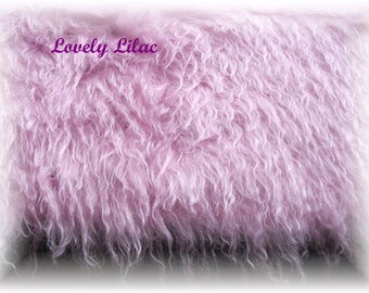 Handdyed Schulte Mohair Fabric Lovely Lilac 49mm  Pile  Fat 1/4 metre one of kind