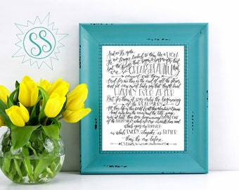 CS Lewis Quote / The Last Battle / Chronicles of Narnia #7 / Owen Mauldin Print / Sympathy Gift Ideas / THW046