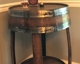 Whiskey Barrel Pub Table ~ Handcrafted From A Whiskey Barrel - Bistro Table