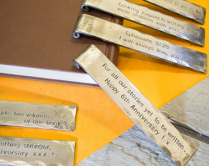 PERSONALISED IRON SCROLLED Bookmark