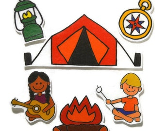Camping, Felt Board, Flannel Board, Felt Set, Homeschool, Busy Book, Felt Story, Story Time, Quiet Book, Imaginative Play, Teacher Resource