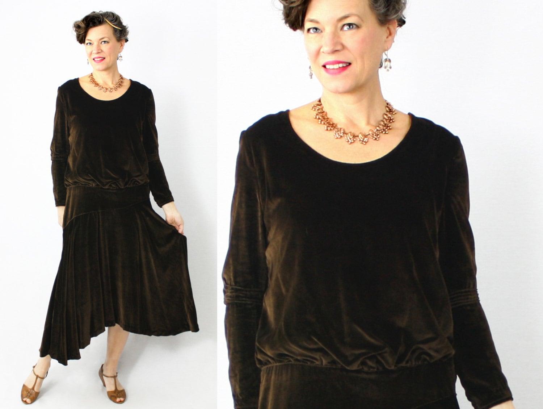 20er Jahre Kleid / 1920er Jahre Kleid / Flapper Kleid / samt