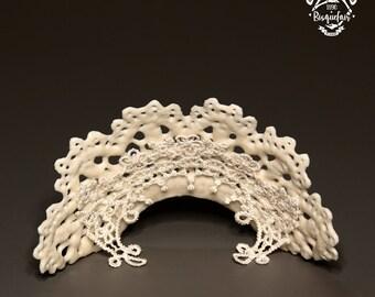 Porcelain BJD Doll Accessory Outfit Bisquefair by Jilbird The Grand Tudor Ruff