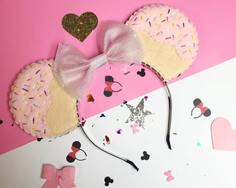 Frosting Cupcake Disney Minnie Mouse Ears