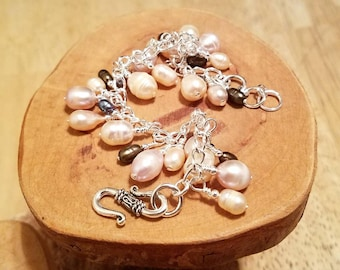 NYGP (not your grandma's pearls) freshwater pearl cha cha chain bracelet ... and it's adjustable too!