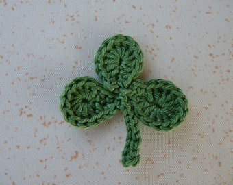3 Leaf Clover - apply with cotton crochet
