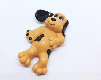 Vintage Pound Puppy PVC Figure from 1984, Tonka PP1/LGT, 1980s Kids Toys