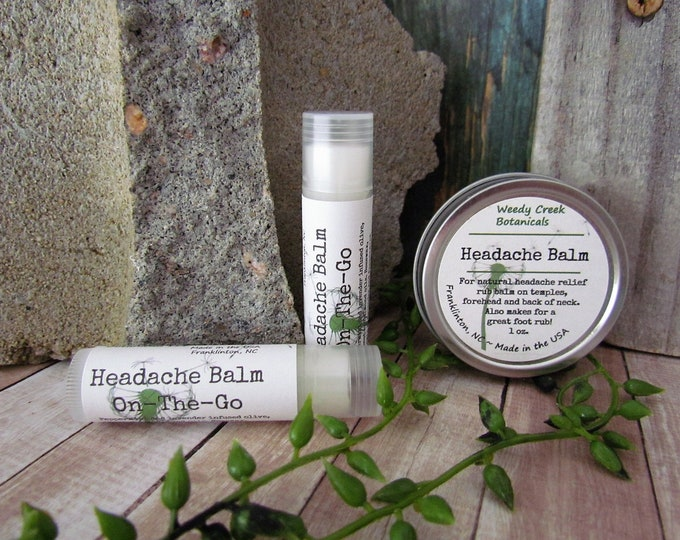 Headache Balm, Headache Relief, Lavender Mint Headache Ointment