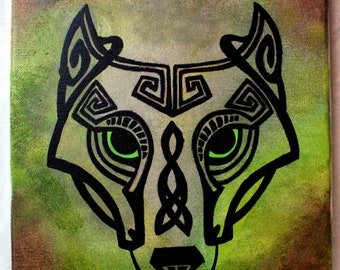 Celtic Wolf Painting