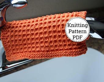 KNITTING PATTERN-Checkers Anyone, Dishcloth Pattern