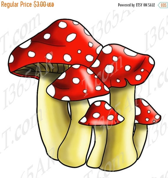 50 off spotted mushrooms clipart mushroom clip art rh etsy com mushroom clipart picture mushroom clipart images
