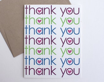 Thank You Card – All Occasion Card – Thank You Notes –Thank You Card Wedding – Gratitude Card – Note of Thanks – Gift Card Thanks