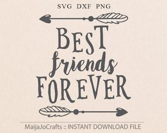 Best Friends Forever SVG Cricut Explore Printable Friend Hello Friend Best Friends Forever Heart Arrow SVG Friends svg Cricut downloads