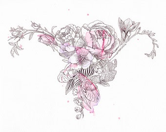 Womb Bouquet - 8x10 Art Print **Special Price