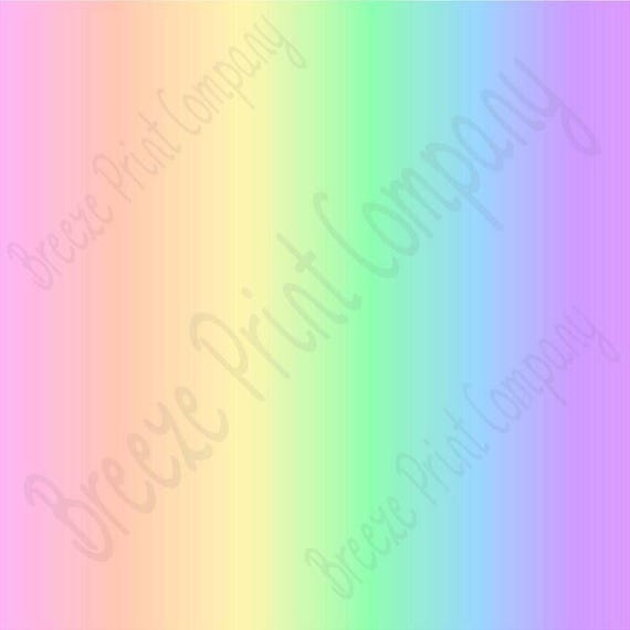 Pastel Rainbow Ombre Print Craft Vinyl Sheet Htv Or Adhesive