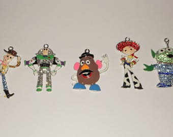 Collectible Set of 5 TOY STORY Large Charms