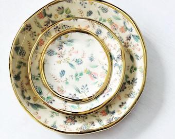 Gold, Ceramics, Jewellery Dish, Soap Dish, Tapas Dish, Made in Australia