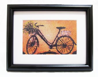 Vintage Bike - Art print From Original painting without Frame