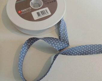 Bias fancy gray cotton with white polka dots