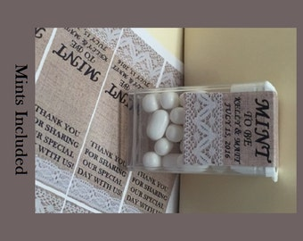 """Custom Wedding Favors """"Mint to Be"""" - 24 per order – *** Buy 3 get 1 free *** includes candy mints."""