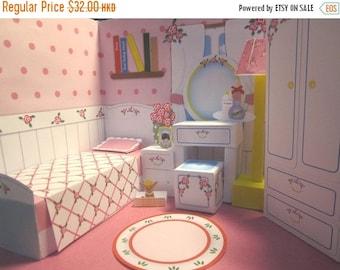 50% OFF Paper Doll House Bedroom - PDF Instant Download Printable Digital File