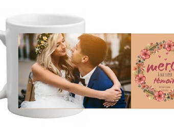 "CERAMIC MUG personalized ""witness gift"" - fall special"