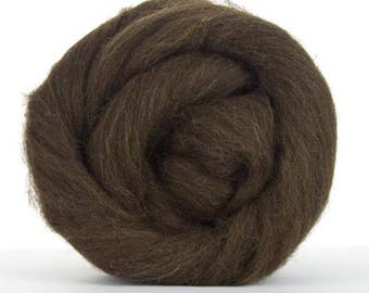 Corriedale Wool Roving - Natural Brown - 1lb