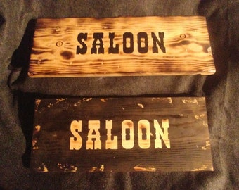 Saloon Western Sign
