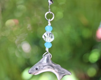 Shark Fan Pull - Fan Chain, Fan Pull, Ceiling Fan Pull, Beach Decor, Beach Cottage, Shark Fan Pull