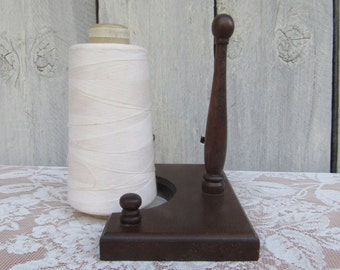 Wood Spool Holder, Sewing Tool, Thread Holder, Sewing Accessory, Thread Dispensor, Embroidery Thread Holder