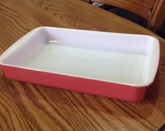 Pyrex Pink Flamingo 232 oblong baking and service dish