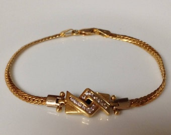 18K Yellow Gold with Sapphires Bracelet