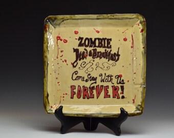 Handmade Custom Zombie Awareness Plate