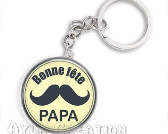 Cabochons glass 25mm #PA_ME035 dad keychain