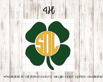 4H Monogram ~ Country Collection