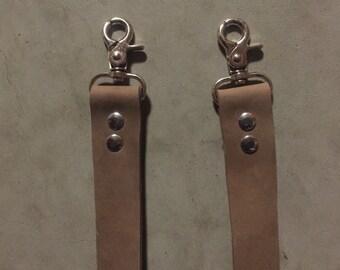 "36"" Distressed Brown Leather Purse Strap, Shoulder Strap"