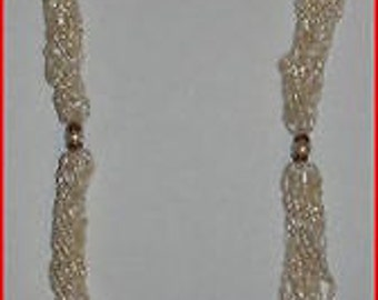 14 kt Gold Freshwater and Cultured Pearl Torsade Necklace