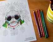 Floral Sugar Skull Colour...