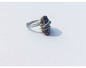 Handmade Wire-Wrapped Granite Ring
