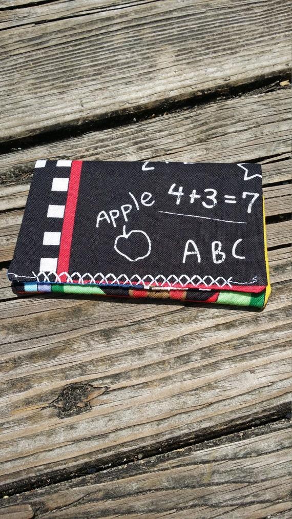 Teacher Gift Card Holder/ Teacher Gift Money Holder/ Gift card Wallet  Gift Card Holder  Fabric Envelope Teacher Appreciation Earbuds Holder