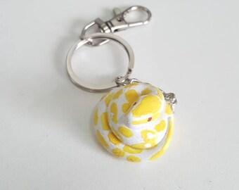 Albino Ball Python Keychains / Design Hand Made