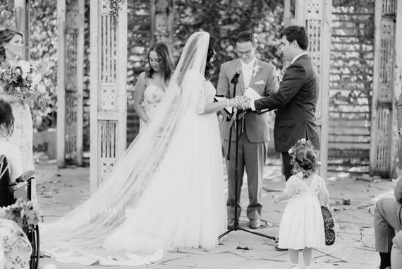 Veil with Lace on the floor