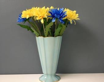 Lenox robins egg blue vase - 1308 - vintage 1940s