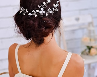 Bridal headpiece Wedding hair vine Bridal hair comb Wedding hair piece Bridal hair accessories Crystal headpiece Bridal jewelry Flower hair
