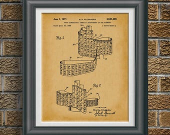 Periodic Table Display of Elements Patent Chemistry Class Wall Art Chem Teacher Artwork Science Teacher Gift Science Class Artwork PP 9060