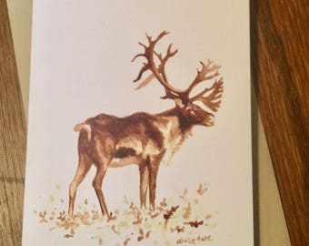 Coffee Caribou Greeting Card